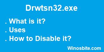 Информация о файле Drwtsn32.exe.