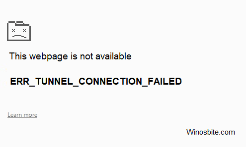 err_tunnel_connection_failed ошибка в исправлении Chrome