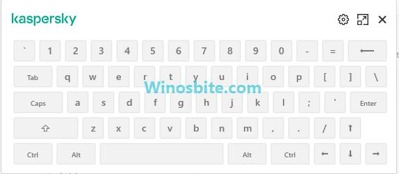 Kaspersky на экранной клавиатуре