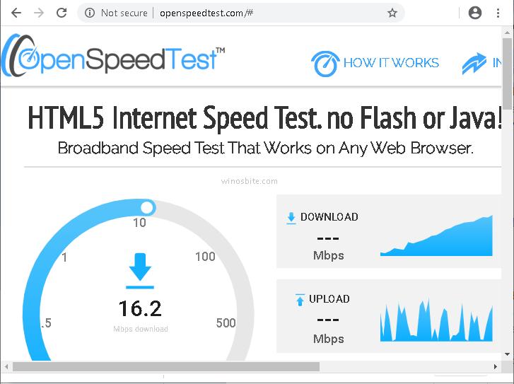 Html5 speed test server