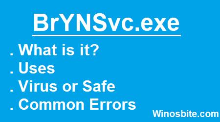 Информация о процессе BrYNSvc.exe