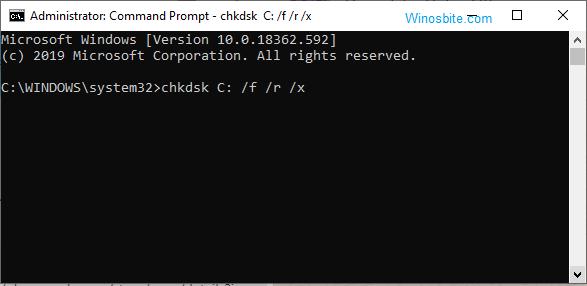 командная строка chkdsk