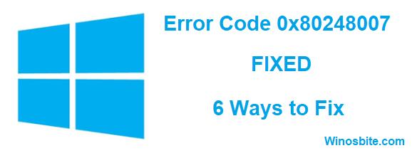 Код ошибки 0x80248007 исправлен