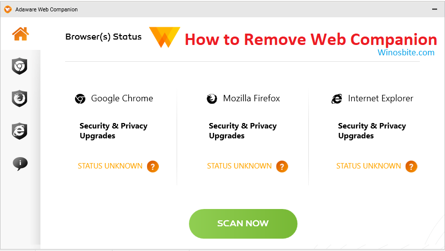 Как удалить веб-компаньон из Windows 10, 8 и 7