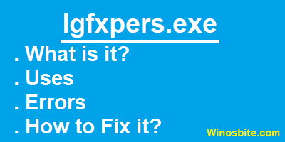 Информация о файле Igfxpers.exe.