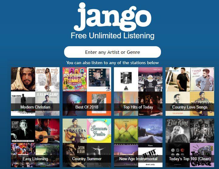Jango бесплатное неограниченное прослушивание