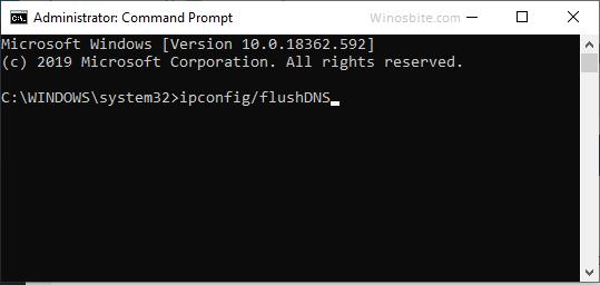 команда ipconfig flushdns в Windows 10