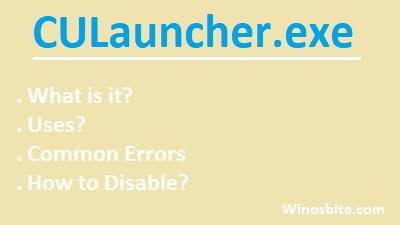 Информация о процессе CULauncher.exe