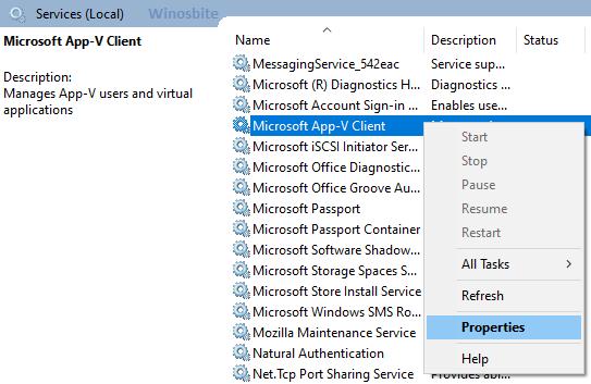 Приложение Microsoft v клиентские службы