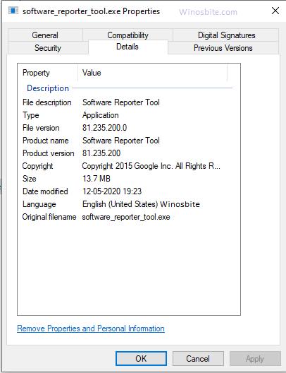 Software_reporter_tool.exe подробности процесса