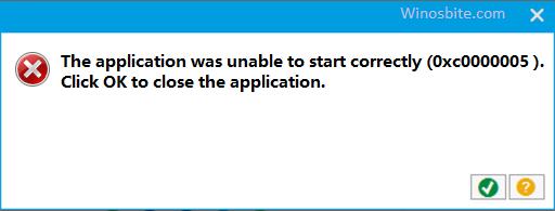 Код ошибки 0xc0000005 в Windows 10