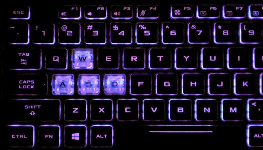 Включение или отключение подсветки клавиатуры ноутбука