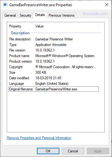GameBarPresenceWriter.exe процесс