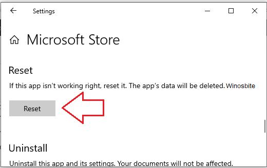 Сброс кеша магазина Microsoft