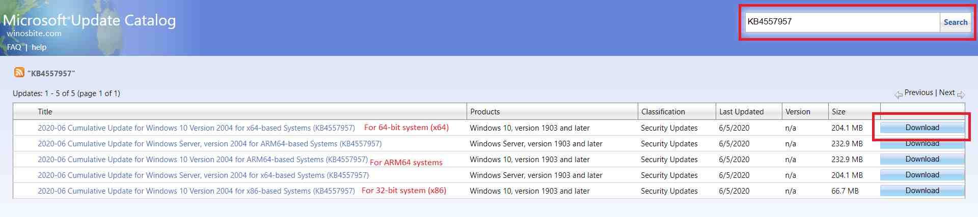 Каталог обновлений Microsoft