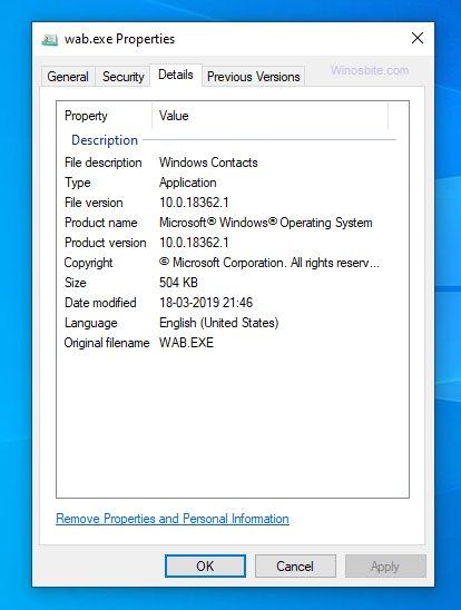 Wab.exe process information.jpg