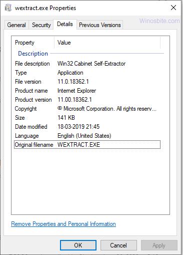 wextract.exe информация о процессе