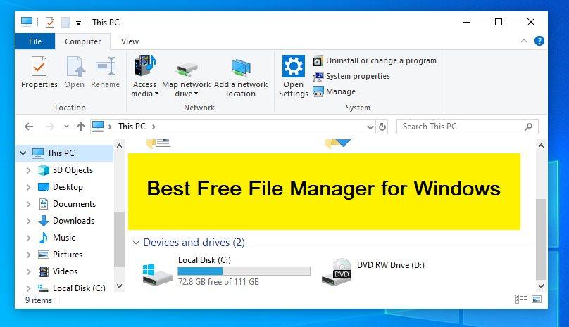 Лучший бесплатный файловый менеджер для Windows