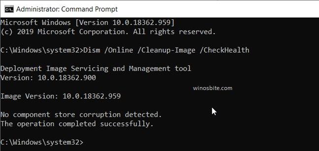 Dism / Online / Cleanup-Image / RestoreHealth