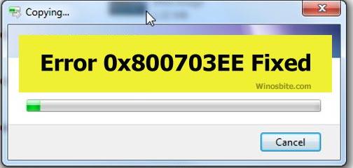 Код ошибки 0x800703EE исправлен.