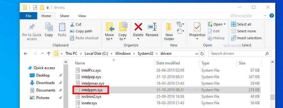 файл intelppm.sys
