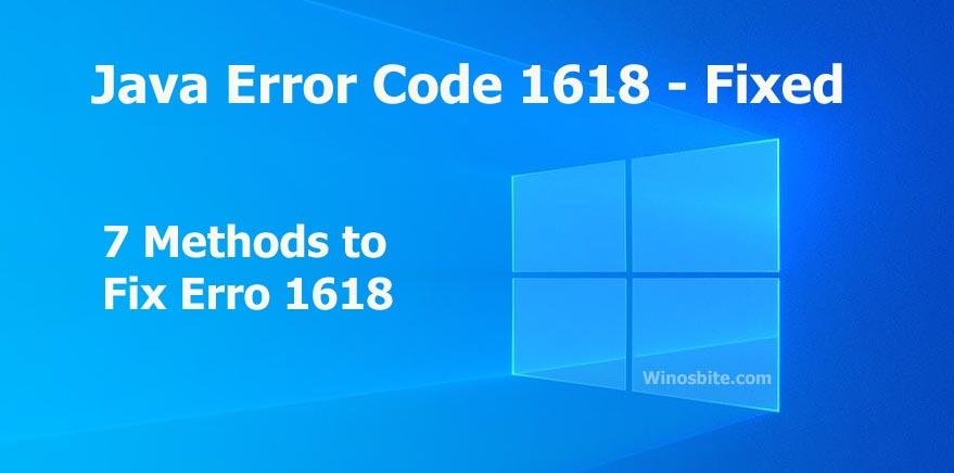 Код ошибки Java 1618 исправлен в Windows 10
