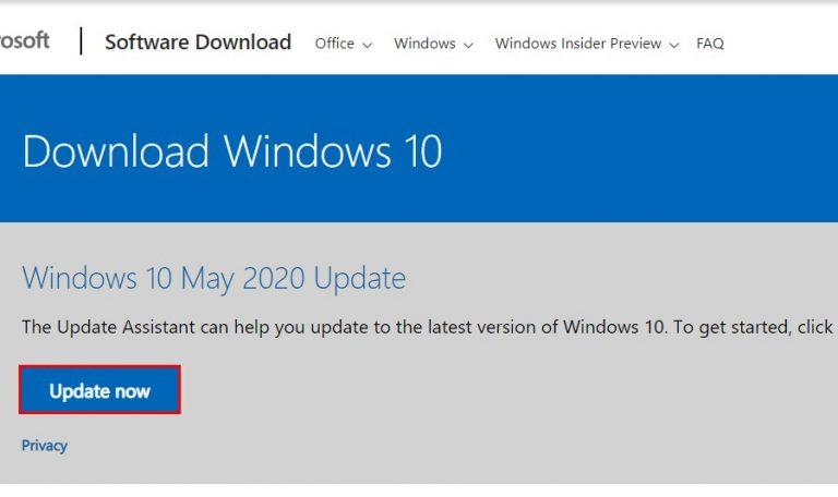 Инструмент обновления Windows