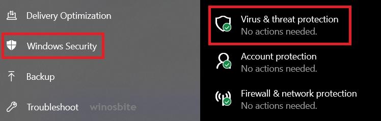 боковая панель безопасности Windows