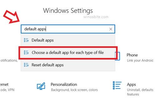 Windows Установка приложений по умолчанию