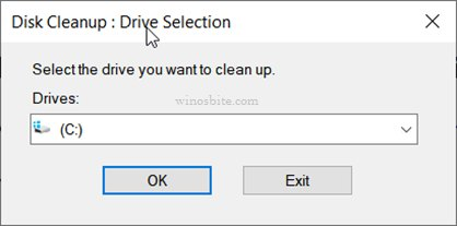 Очистка диска: выбор диска