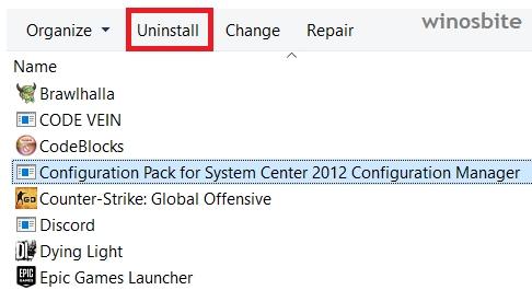 удалить пакет конфигурации System Center Configuration Manager