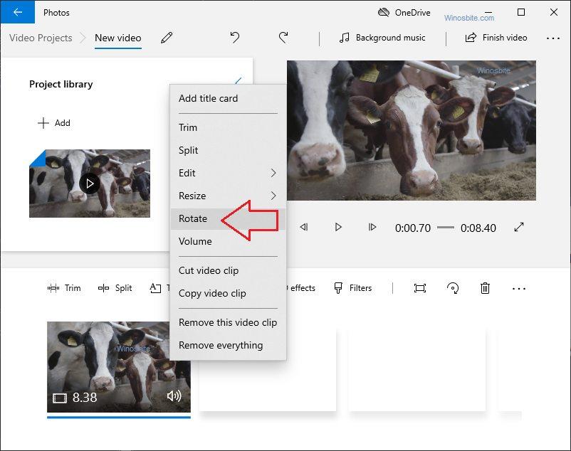 Видеоредактор Windows 10 для поворота видео