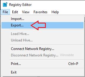 Реестр экспорта