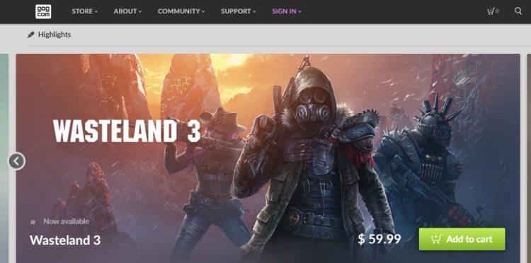 Сайт загрузки бесплатной игры Gog Games