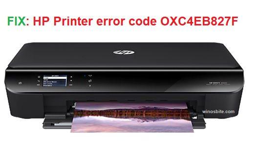 Код ошибки принтера HP OXC4EB827F
