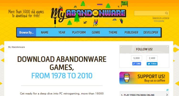 Мои игры Abandonware