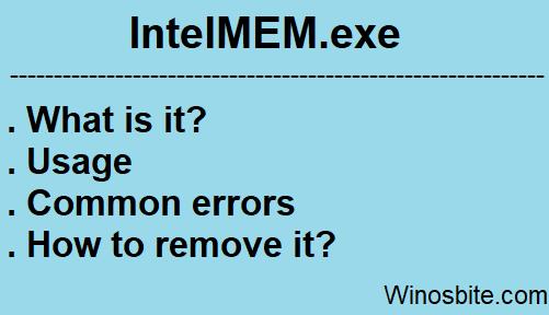 Информация о процессе Intelmem.exe