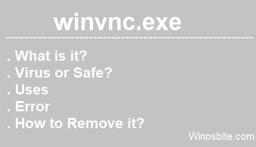 winvnc.exe процесс
