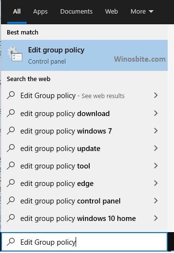 Изменить групповую политику
