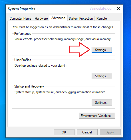 Свойства системы> вкладка «Дополнительно» в Windows 10″ width=»459″ height=»491″/></noscript></noscript></p> <p>4) После этого откроется еще одно окно, в котором вы снова сможете перейти в <strong>Передовой</strong> вкладку и щелкните на значке «<strong>Изменять</strong>… »Под <strong>Виртуальная память</strong></p> <p><img data-lazyloaded=