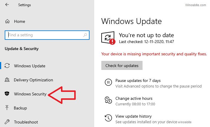 Опция безопасности Windows