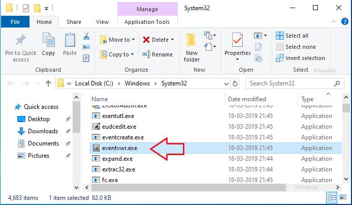 расположение файла eventvwr.exe
