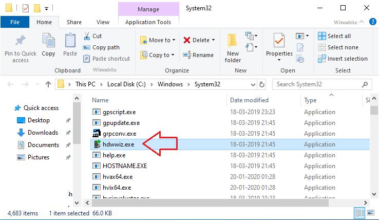 hdwwiz.exe расположение файла