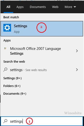 Настройки Windows 10