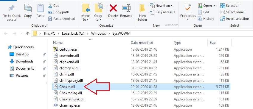 расположение файла chakra.dll
