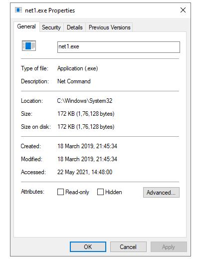 net1.exe свойства файла