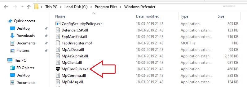 Расположение файла mpcmdrun.exe