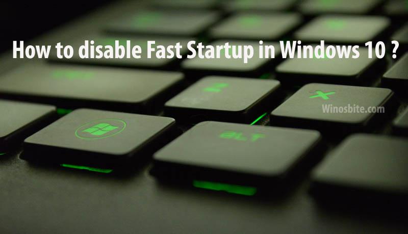 Как отключить быстрый запуск в Windows 10