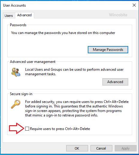Учетные записи пользователей расширенный безопасный вход
