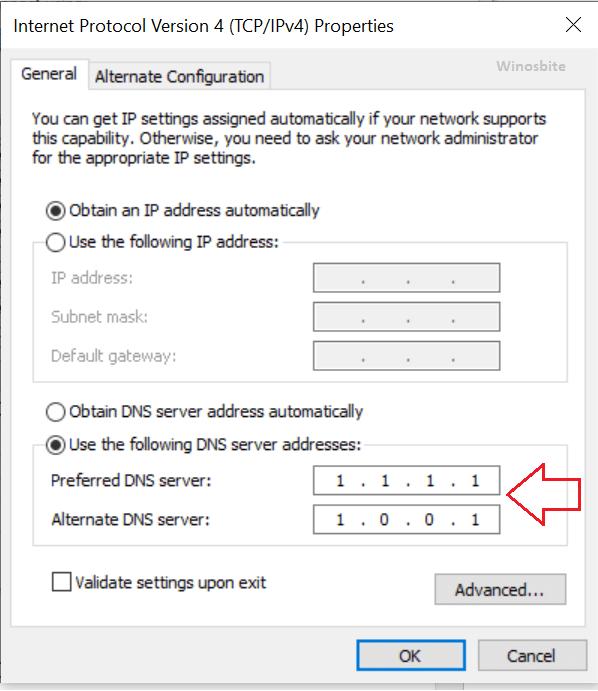 Адрес DNS-сервера tcp ipv4